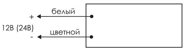 Схема подключения для светового табло уличного исполнения IP55 КРИСТАЛЛ-12 НИ и КРИСТАЛЛ-24 НИ