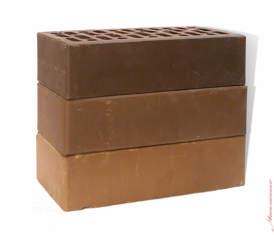 Плитка под коричневый кирпич, цвет шоколад