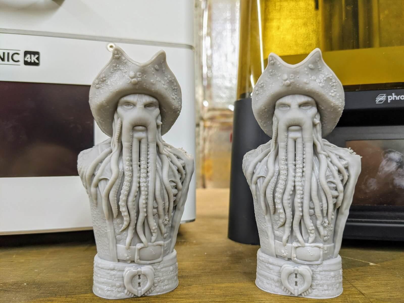 слева качество печати 3D-принтер Phrozen Sonic 4K