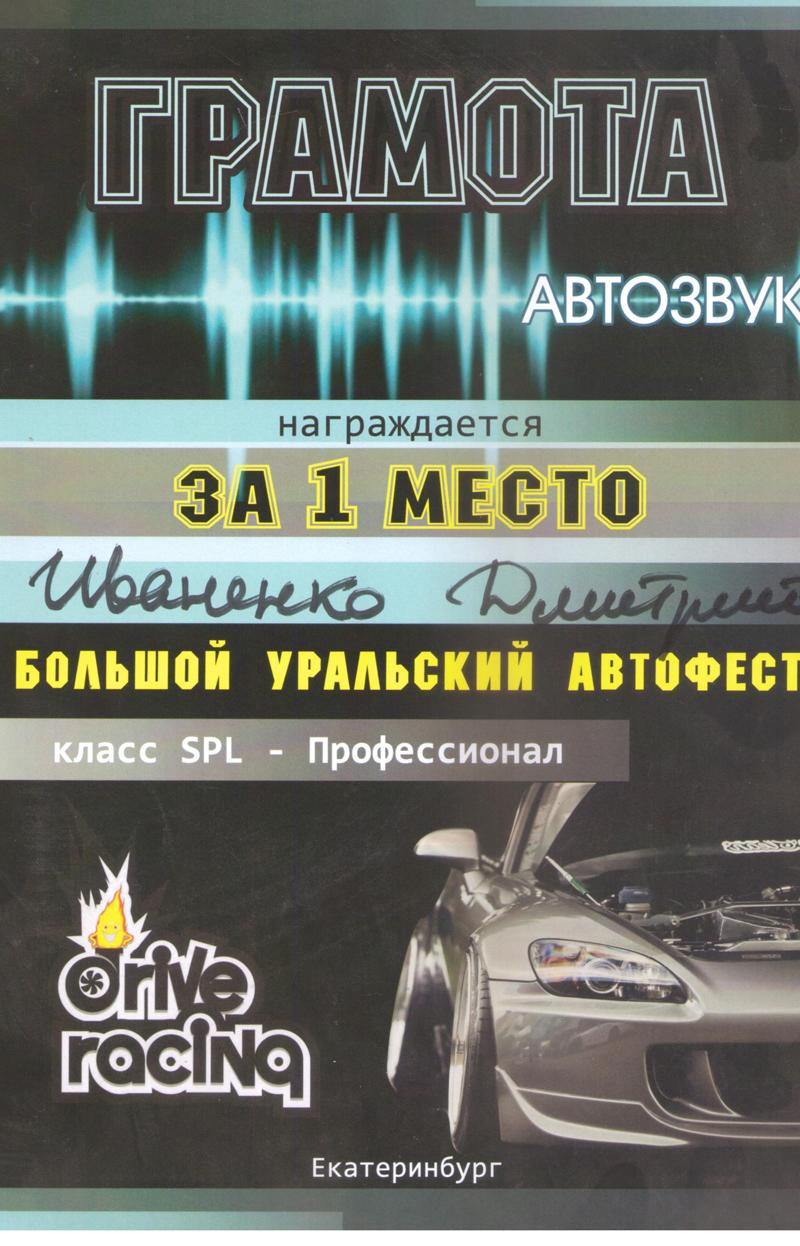1 место БУА Екатеринбург 2015г