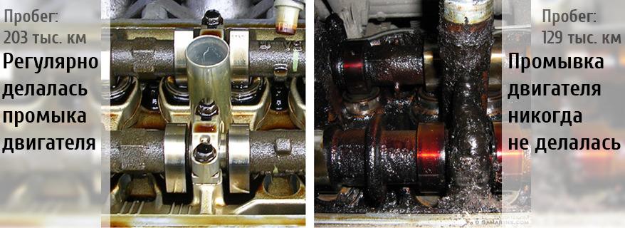 Промывка мотора до и после