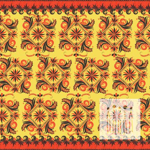 Ткань Хохлома травная от мастерской Ангел