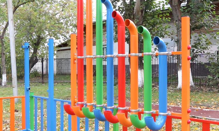 «Радуга», уличная пан-флейта для детских садов производства ТПК «Умничка™»