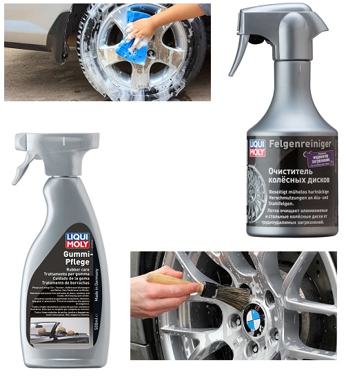 Средства Liqui Moly для очистки дисков и шин автомобиля