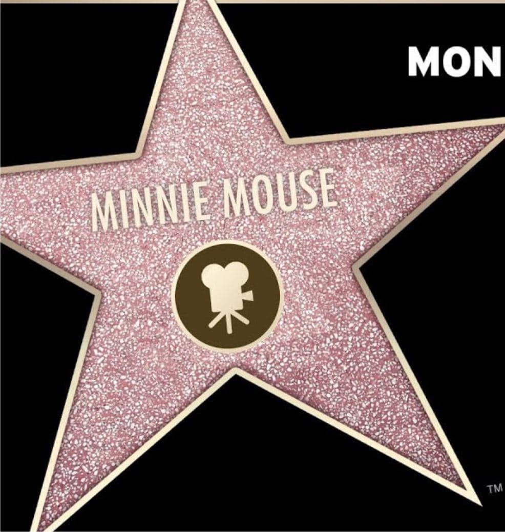 Minnie Mouse - именная звезда на Аллее славы Голливуда