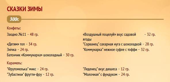 """Новогодний подарок """"Сказки зимы"""" 300г. Коммунарка"""