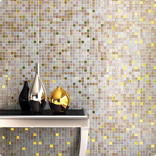 MIX15-BG335 Chara Мозаика смешанного цвета чип 15 стекло Alma Mix