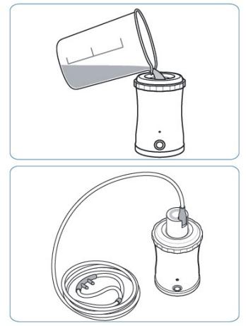 Портативный ингалятор / генератор водородной воды Ecolife P070