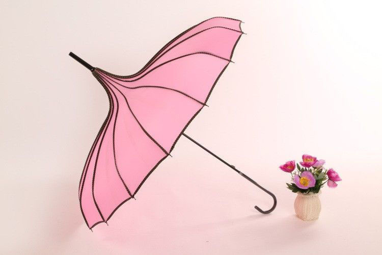 Зонт трость традиционный розовый | ZC Traditional design