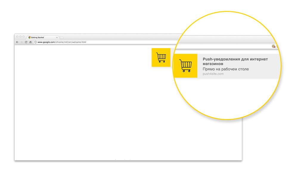 Пример браузерного push-уведомления