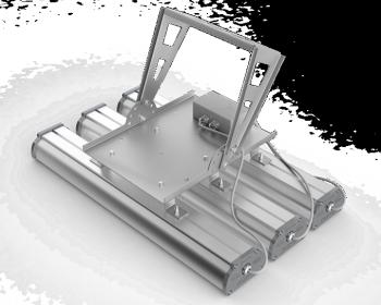 Поворотный кронштейн для крепления трех светильников серии Iron 2.0