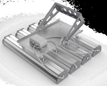 Поворотный кронштейн для крепления четырех светильников серии Iron 2.0