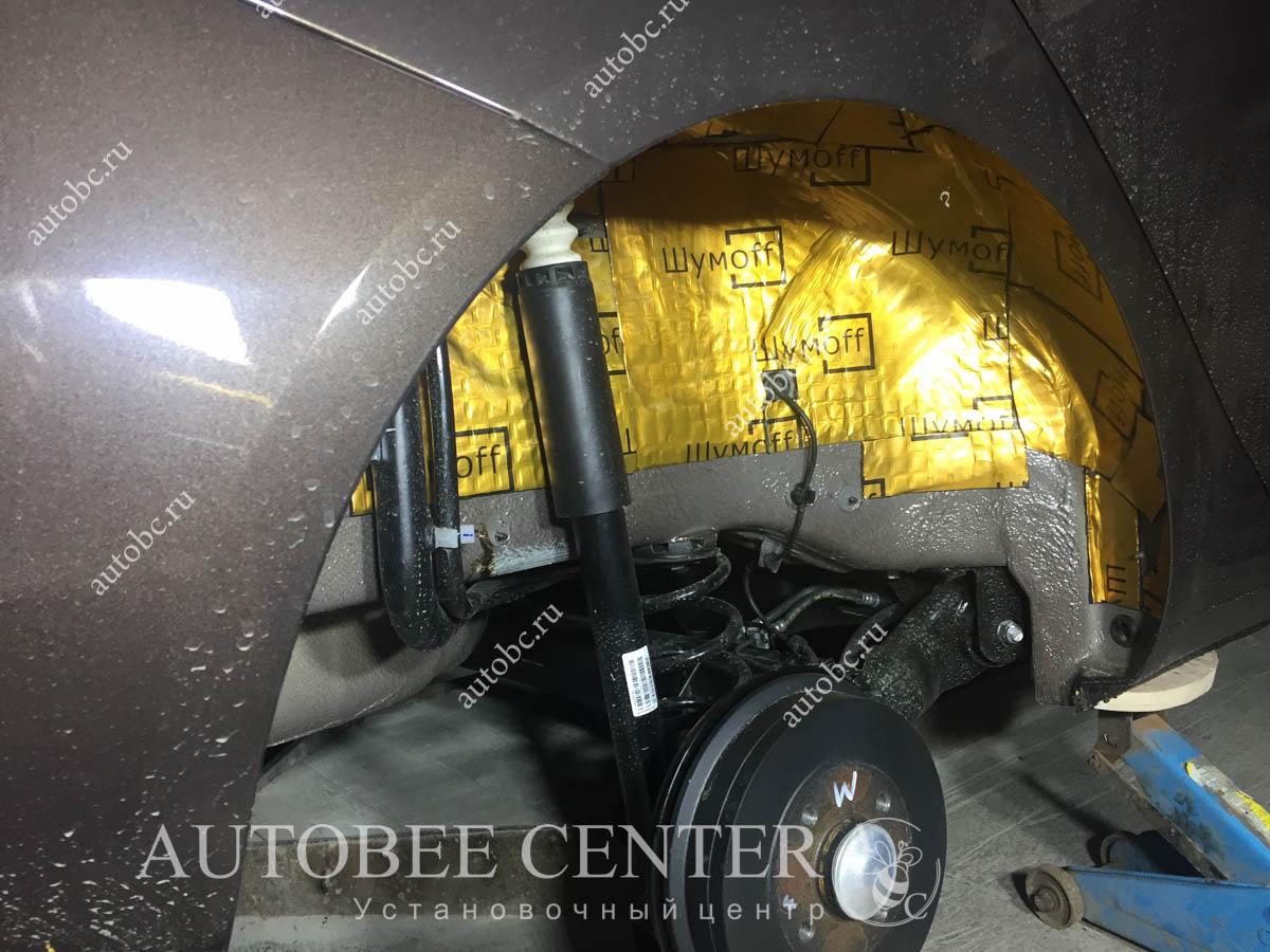Lada Vesta SW (шумоизоляция колесных арок)