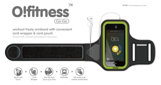 Спортивный чехол на предплечье Ozaki O!fitness Go-Go Armband Black Green (чёрный-зелёный) для iPhone 6 и 6s Black Green OF030BK.