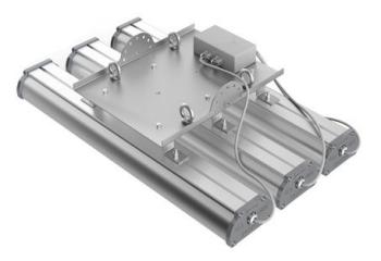 Подвесное крепление для крепления трех светильников серии Iron 2.0