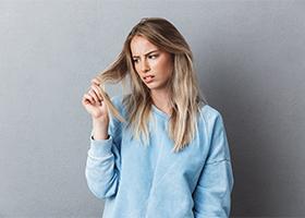 уход за волосами - сеченые кончики