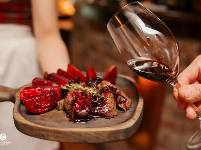 обжарка на сковороде с вином