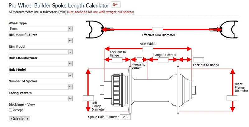Pro Wheel Builder Spoke Length Calculator