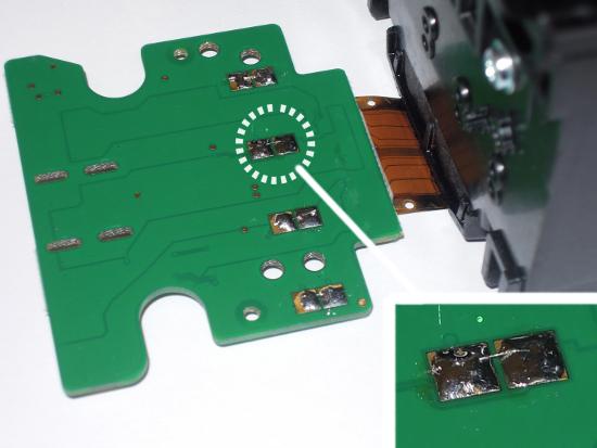 Как соединить контакты на ПГ HP T120/T520 и отключить слежение за уровнем чернил
