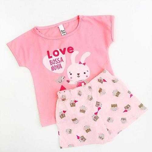 Детская пижама Bossa Nova для девочек Love купить в интернет-магазине Мама Любит!