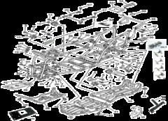Двигатель и детали крепления рамы Стелс Леопард