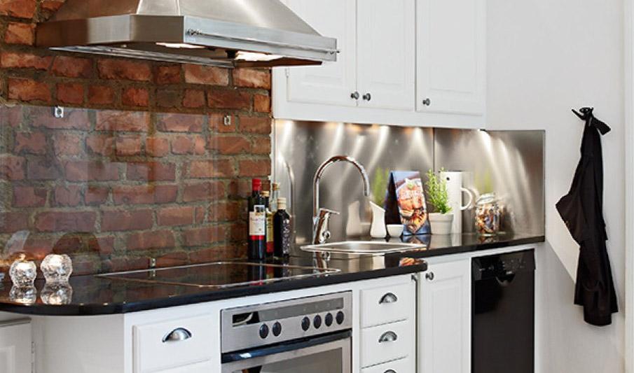 Плитка под кирпич на кухню дкля фартука