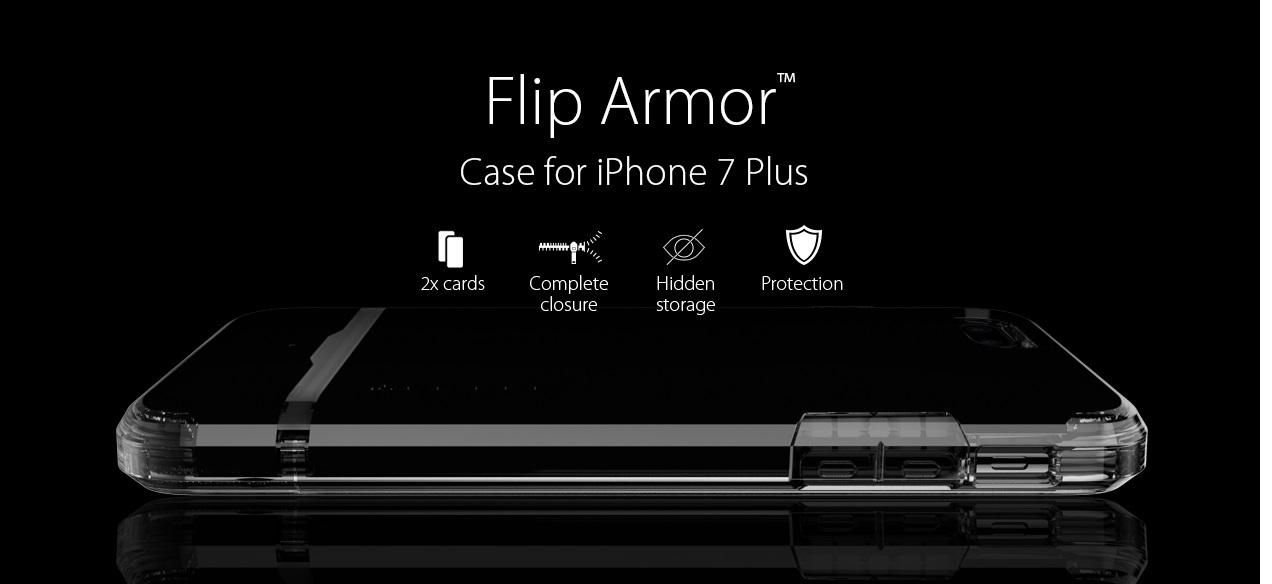 Оригинальныенакладки-визитницы Case Flip Armor Sgp Spigen для iPhone 7 Plus.