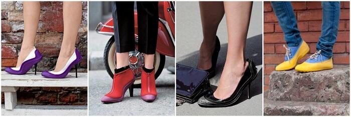 Галоши на обувь женские