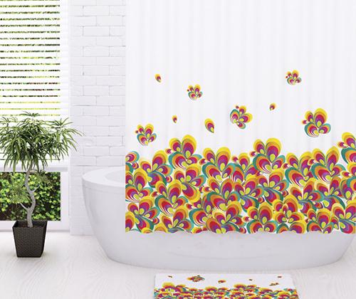 Шторка для ванной тканевая WasserKRAFT Leine