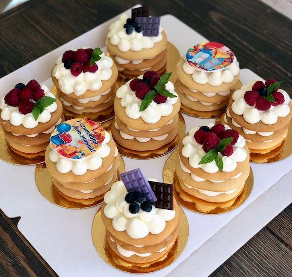 """Фото 29. Банкетные медовые пирожные со сливками и сыром """"Маскарпоне"""" без глютена"""