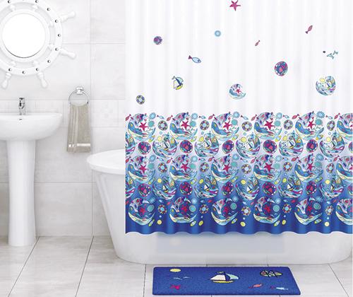Шторка для ванной тканевая WasserKRAFT Salm