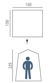 Походный туристический душ-туалет Btrace Arten Solo, 150х150х225 см