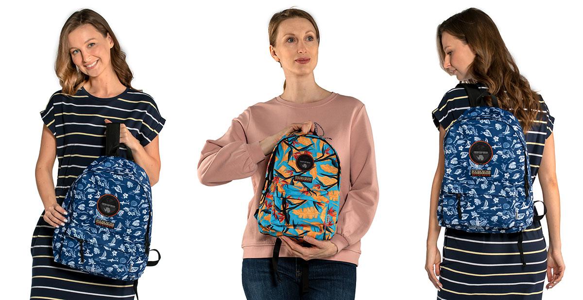 Рюкзаки итальянского бренда Напапири с принтом