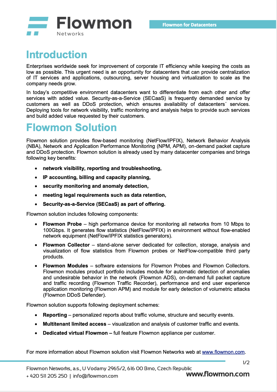 Flowmon Overview
