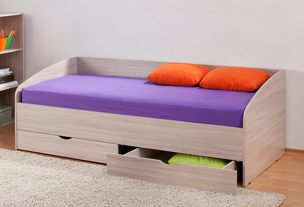 Заказать недорого односпальную кровать с ящиками