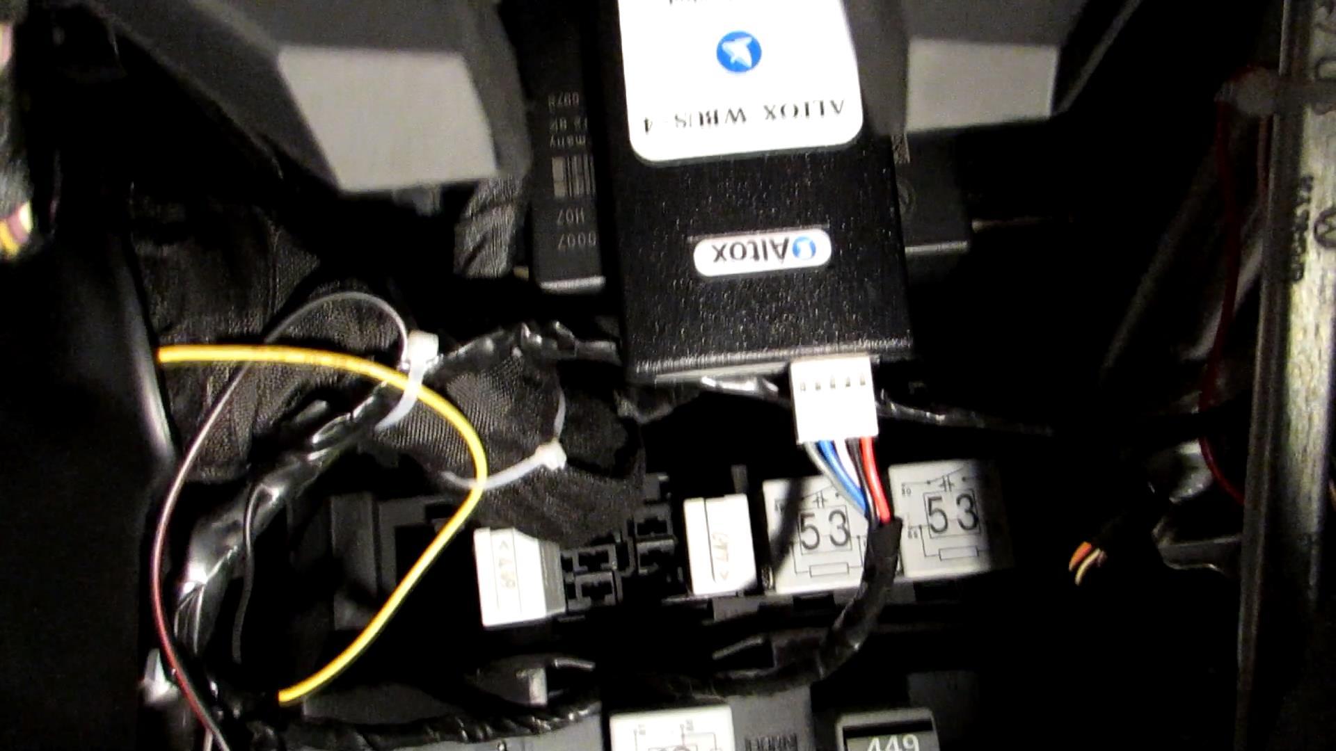 Отчет по дооснащению VW Passat B6 GSM-модулем ALTOX WBUS-4 31