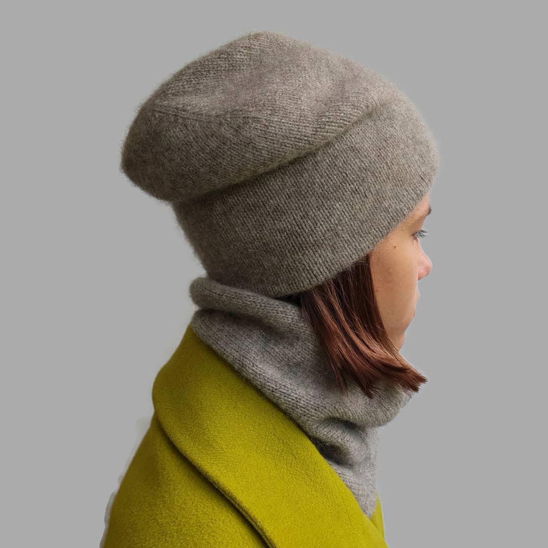 шапка из пуха яка от sarlag