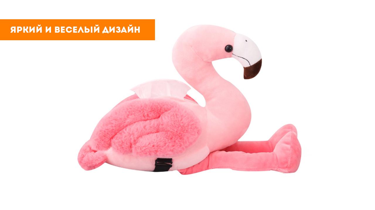"""Мягкая игрушка """"Розовый фламинго"""" (50см)"""