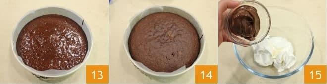 Шоколадный торт с кремом из маскарпоне и нутеллой, 5