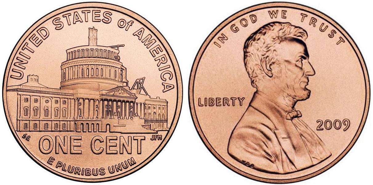 1 цент Президентство Линкольна 2009