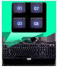 12 fully-programmable G-keys