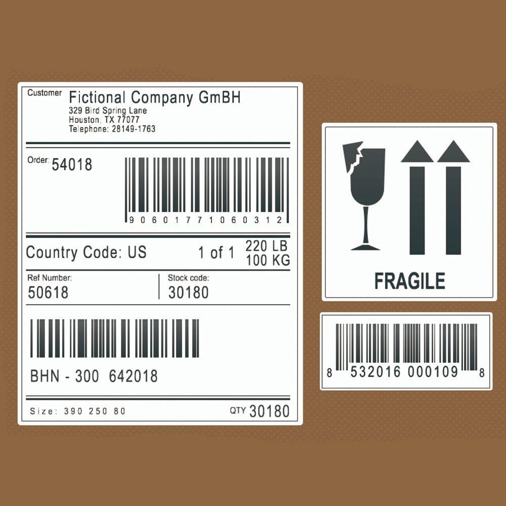 Пример правильного оформления этикетки со штрих-кодом