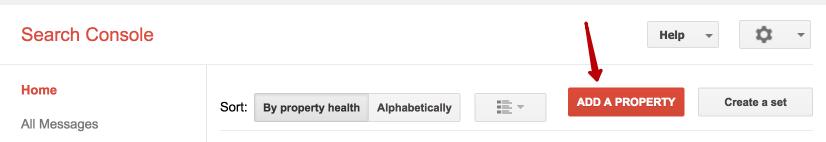 Добавление сайта в GoogleSearch Console