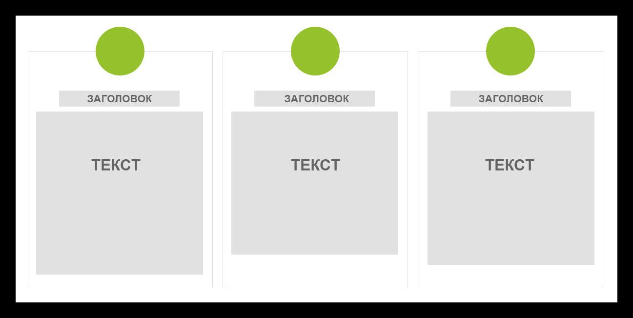 Блоки с текстом без фиксированного размера