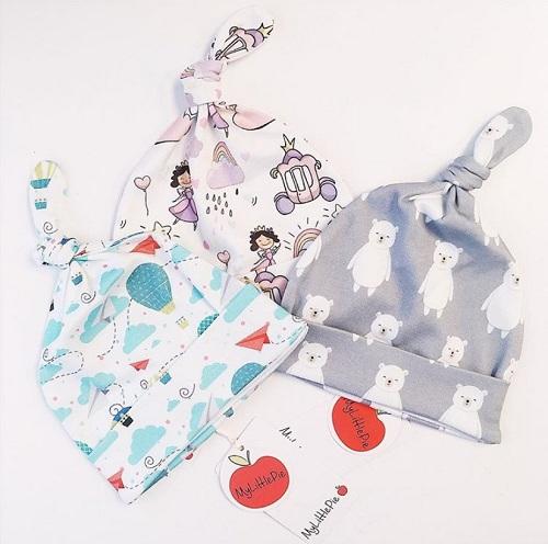 Шапочка для новорожденных My little pie Принцесса купить в интернет-магазине Мама любит!