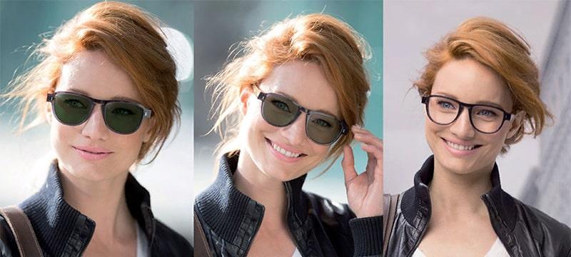 ефект окулярів з фотохромним покриттям