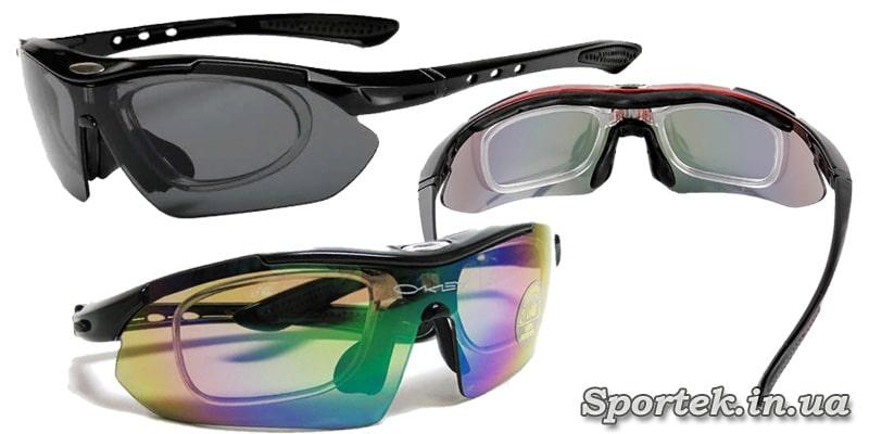 Велоочки, в які вставляються лінзи з діоптріями від звичайних окулярів