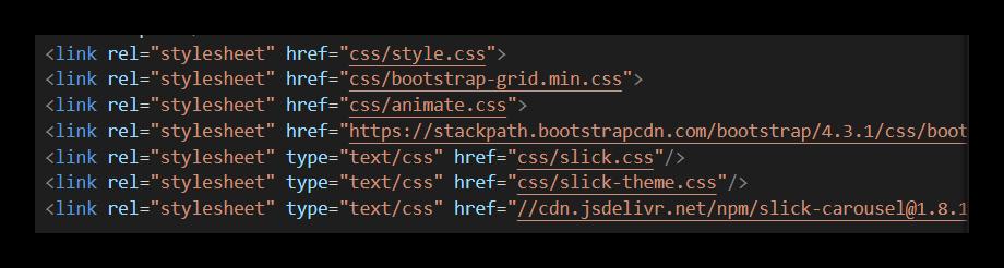Пример правильного подключения стилей к HTML-файлу