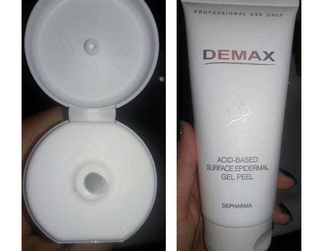 Фотоогляд на кислотний пілінг Demax