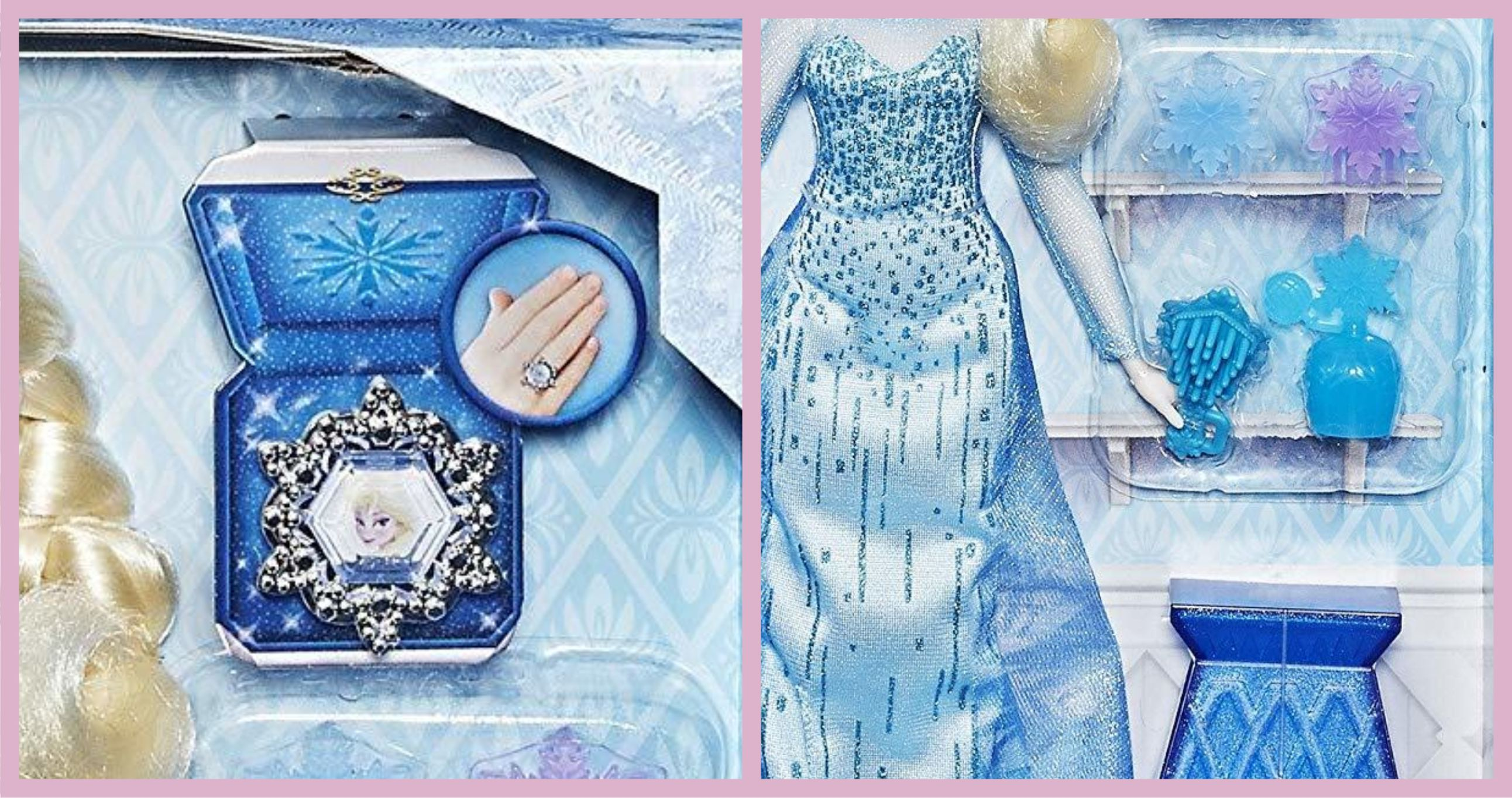 Аксессуары из набора Disney Frozen Elsa and Coronation Vanity)